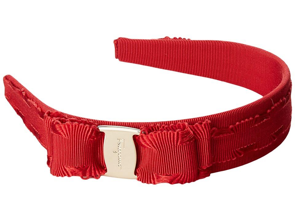 Salvatore Ferragamo - 346970 P.TA Bello 3 (Pamplona/Oro Chiaro) Headband
