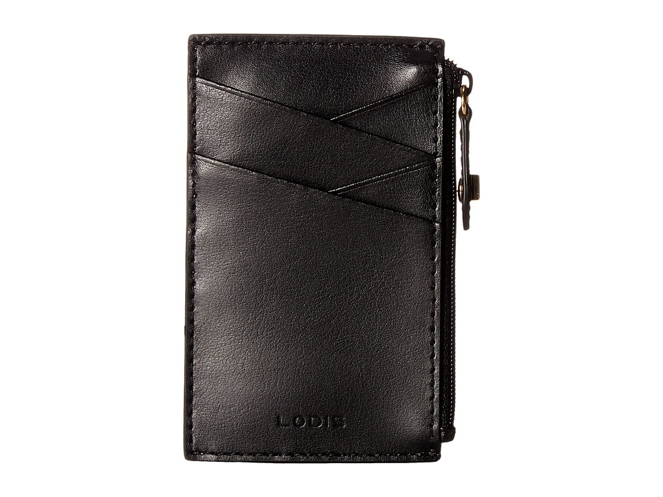 Lodis Accessories - Blair Ina Card Case (Black/Taupe) Credit card Wallet
