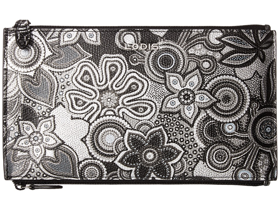Lodis Accessories - Vanessa Swirl Lani Double Zip Pouch (Multi) Travel Pouch