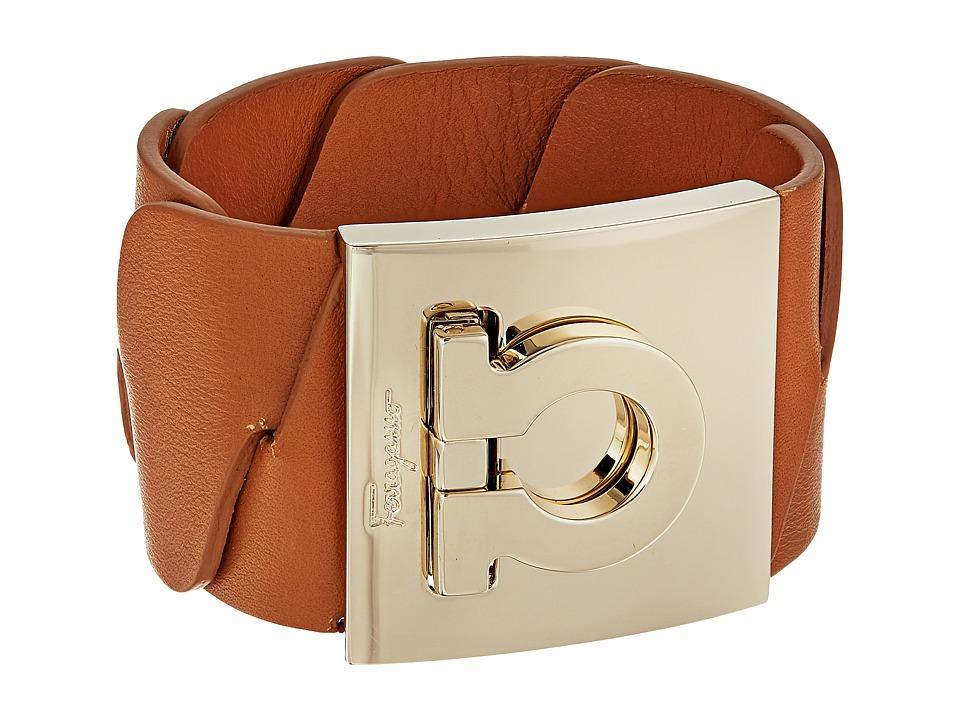 Salvatore Ferragamo - 347381 BR INTR.GR. Bracelet (Sienne/Oro Chiaro) Bracelet