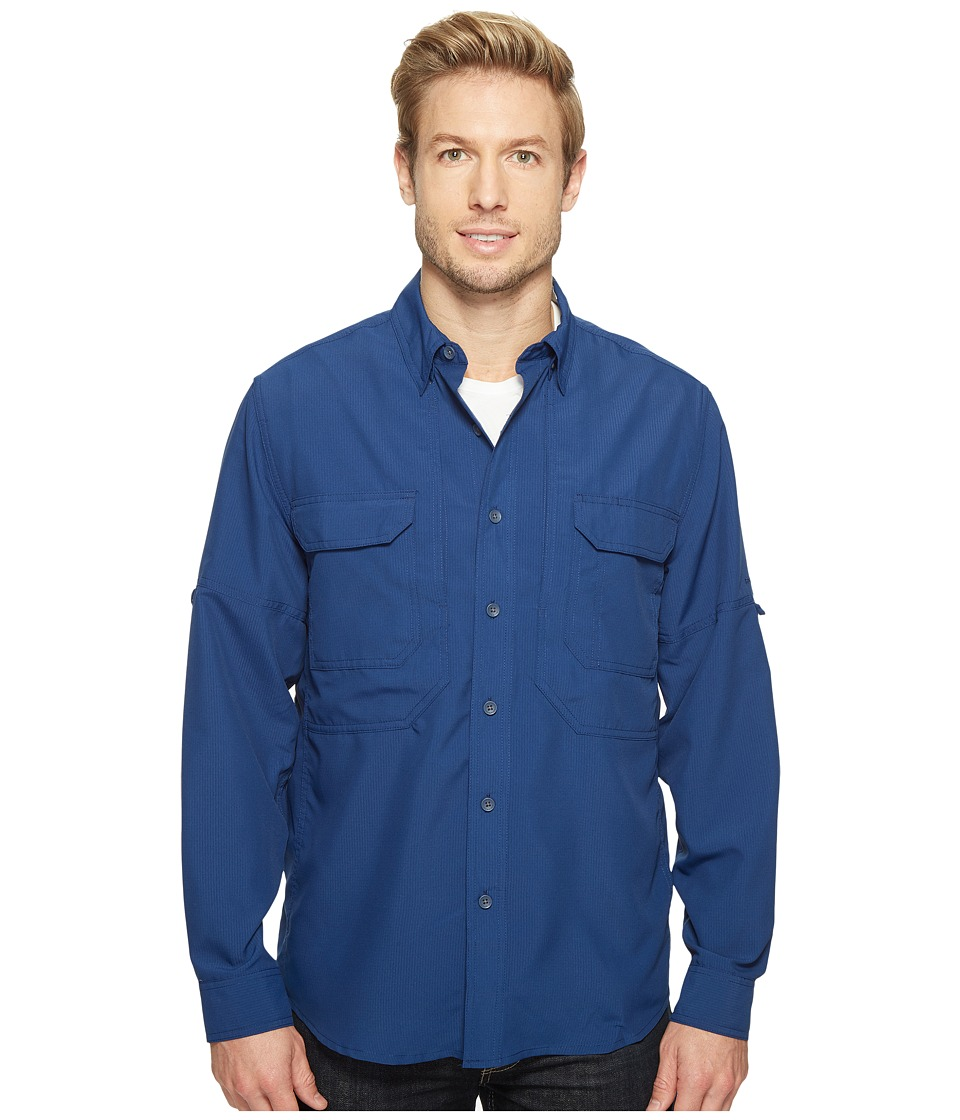 Royal Robbins - Expedition Chill Long Sleeve (Twilight Blue) Men's Long Sleeve Button Up