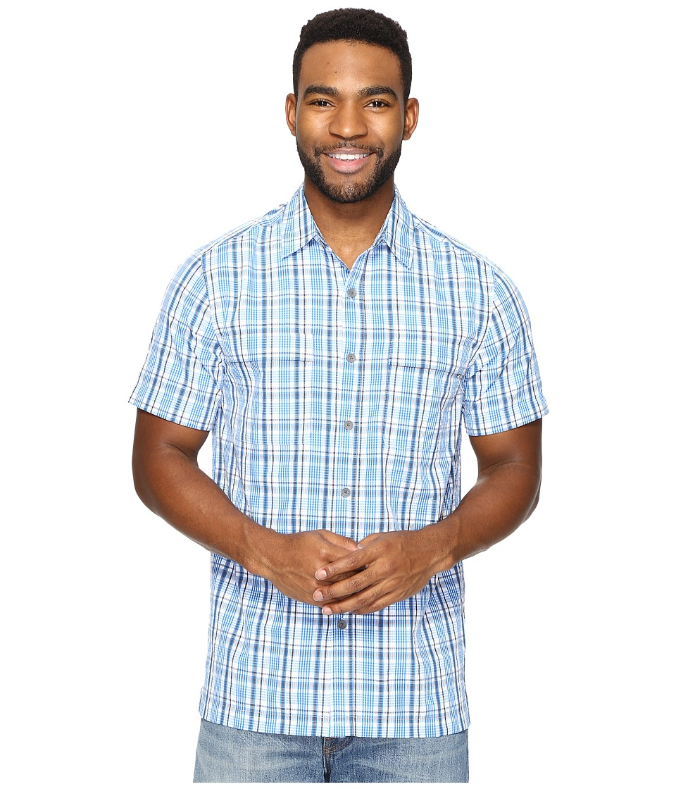 Royal Robbins - Diablo Plaid Short Sleeve (Merlin Blue) Men's Short Sleeve Button Up