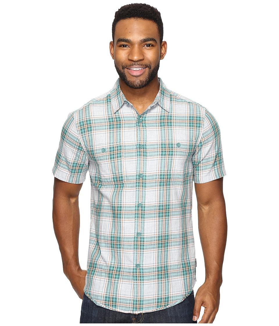 Royal Robbins - Point Reyes Plaid Short Sleeve Shirt (Conifer) Men's Short Sleeve Button Up