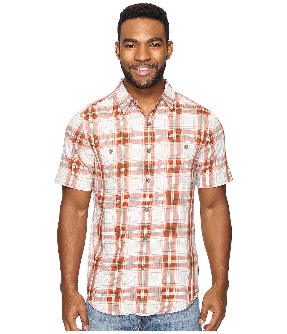 Royal Robbins - Point Reyes Plaid Short Sleeve Shirt (Crimson) Men's Short Sleeve Button Up
