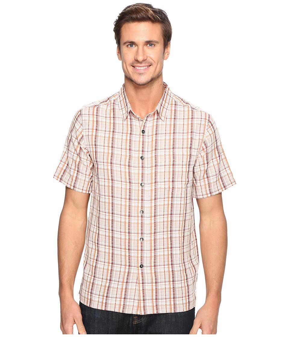 Royal Robbins - Pilat Plaid Short Sleeve Shirt (Crimson) Men's Short Sleeve Button Up