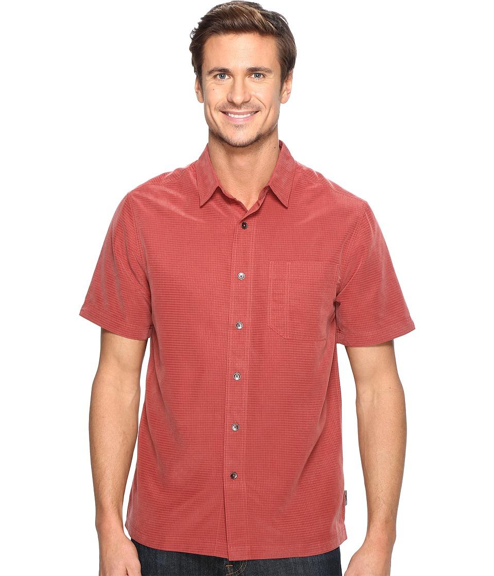 Royal Robbins - Desert Pucker S/S (Dark Paprika) Men's Short Sleeve Button Up