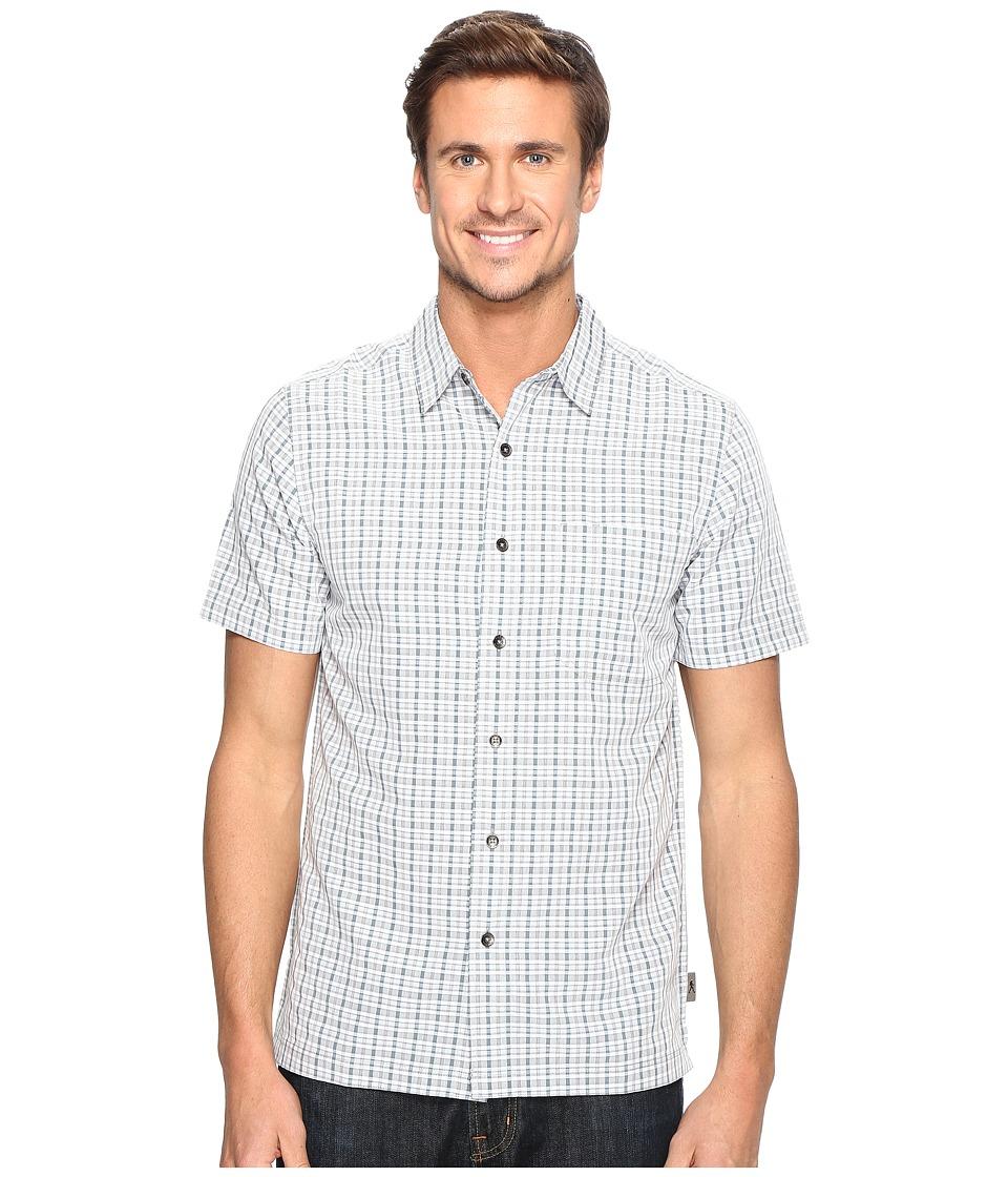 Royal Robbins - Mojave Pucker Plaid Short Sleeve (Pewter) Men's Short Sleeve Button Up