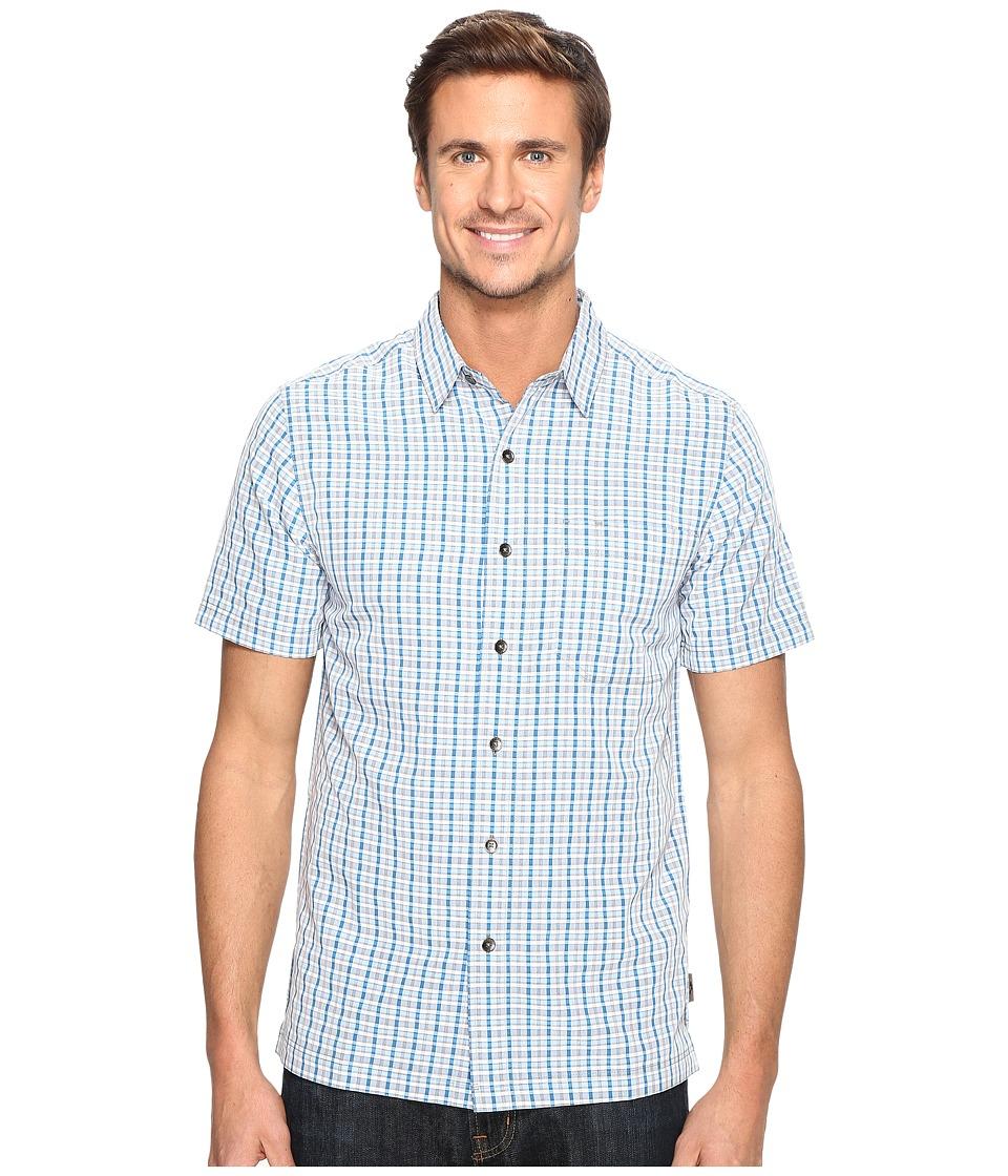 Royal Robbins - Mojave Pucker Plaid Short Sleeve (Merlin Blue) Men's Short Sleeve Button Up