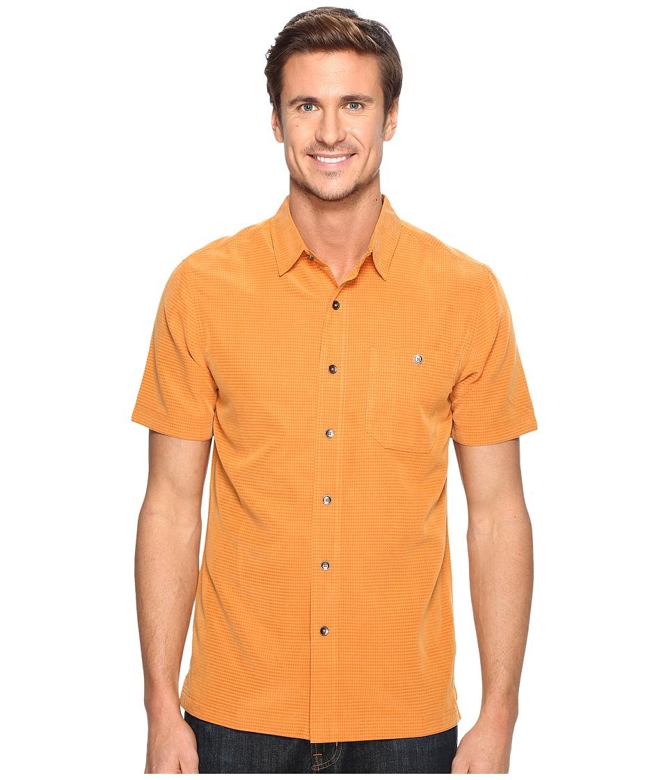Royal Robbins - Mojave Desert Pucker S/S (Marmalade) Men's Short Sleeve Button Up