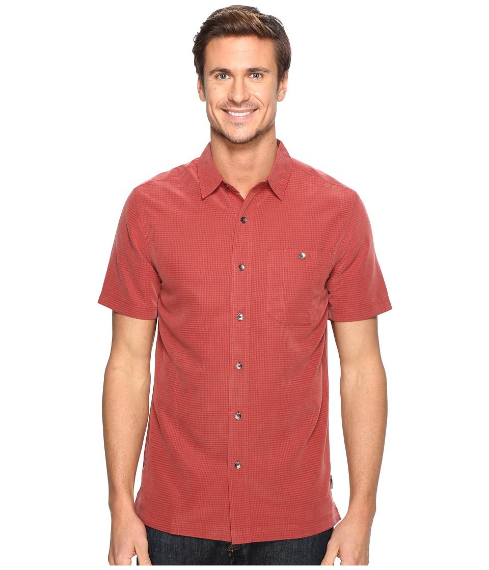 Royal Robbins - Mojave Desert Pucker S/S (Dark Paprika) Men's Short Sleeve Button Up