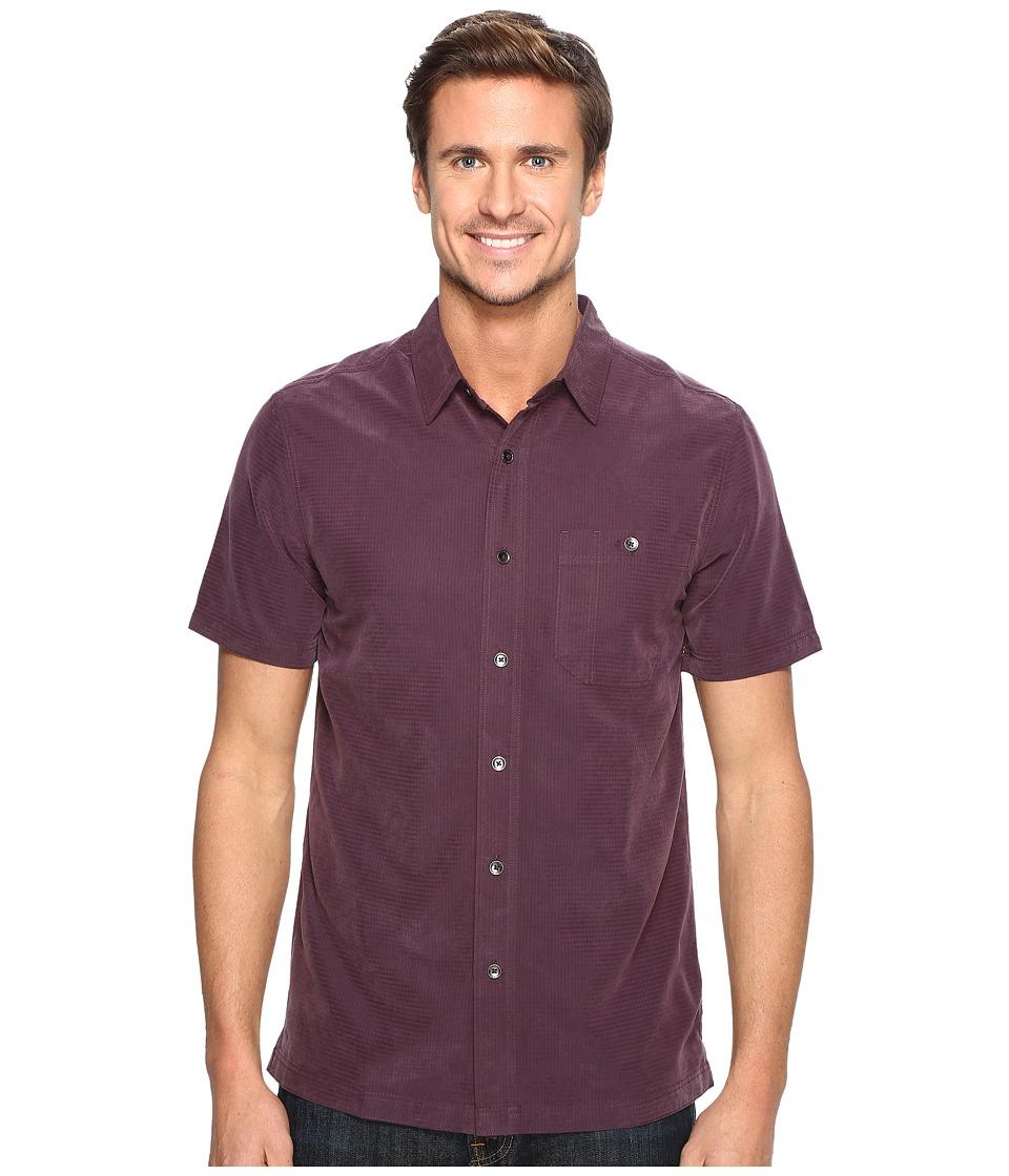 Royal Robbins - Mojave Desert Pucker S/S (Prune) Men's Short Sleeve Button Up