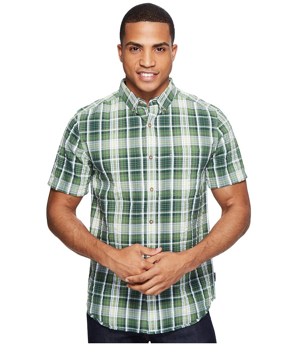 Royal Robbins - Mid-Coast Seersucker Plaid Short Sleeve (Garden) Men's Short Sleeve Button Up