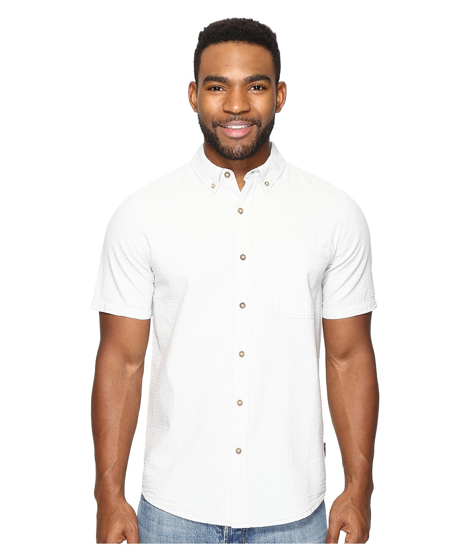 Royal Robbins - Mid-Coast Seersucker Short Sleeve (Light Pelican) Men's Short Sleeve Button Up