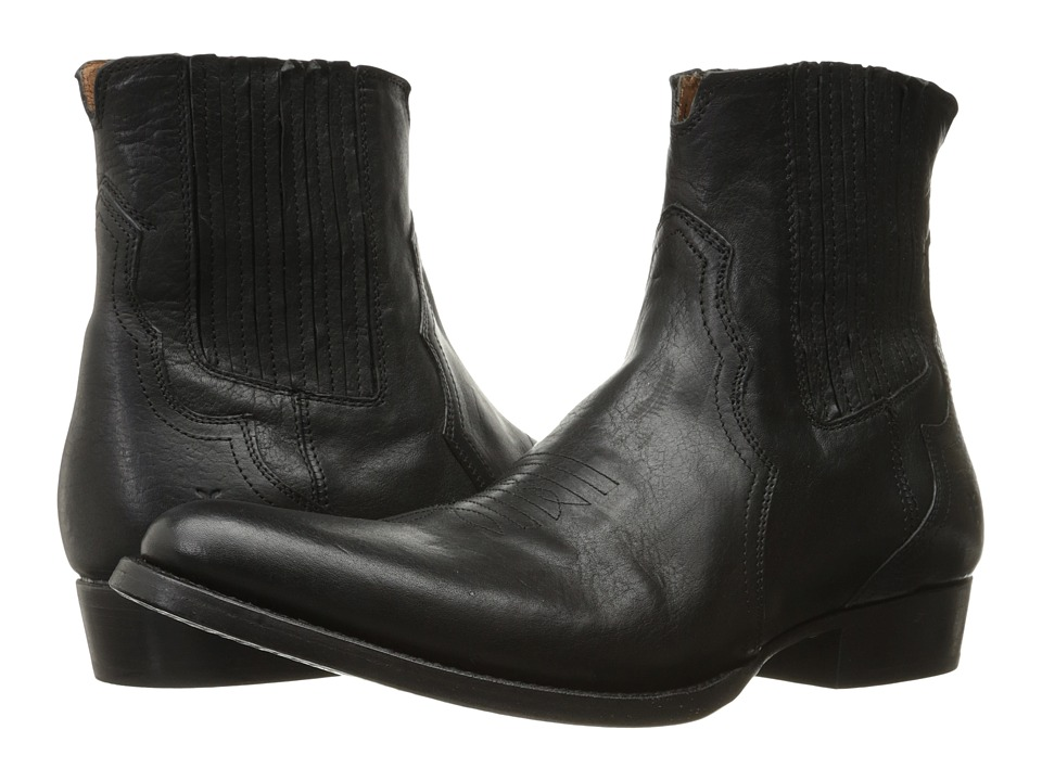 Frye Austin Chelsea (Black Washed Tumbled Full Grain) Men