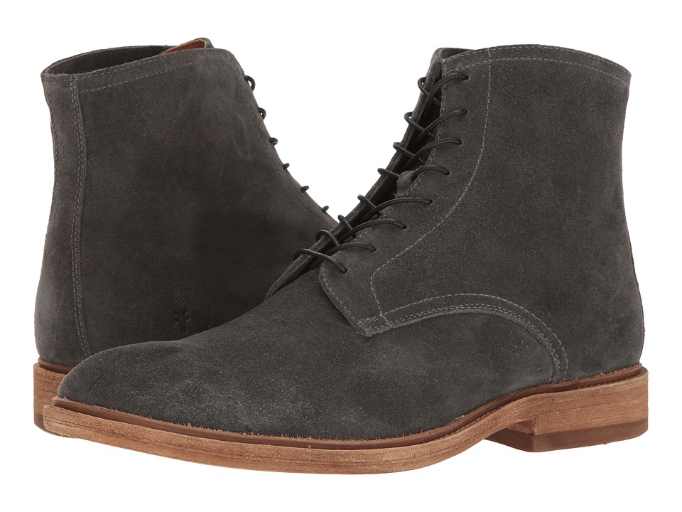 Frye Chris Lace-Up (Slate Oiled Suede) Men