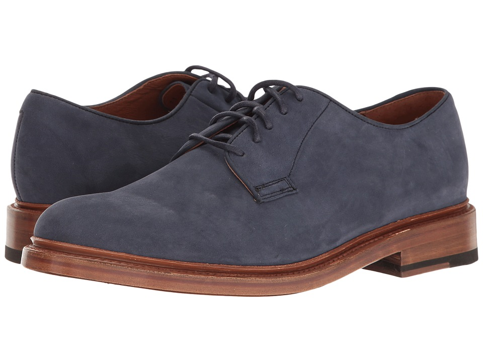 Frye - Jones Oxford (Indigo Soft Italian Nubuck) Men's Shoes