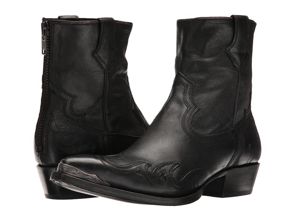 Frye - Lou Overlay (Black Pressed Full Grain) Men's Boots