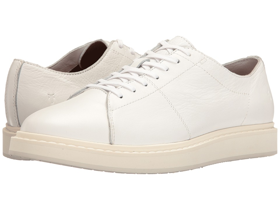 Frye - Mercer Low Lace (White Tumbled Cow) Men's Lace up casual Shoes