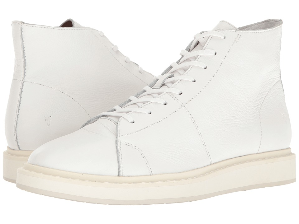 Frye - Mercer High (White Tumbled Cow) Men's Lace up casual Shoes
