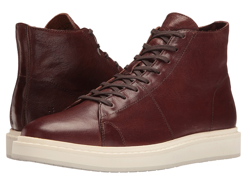 Frye - Mercer High (Brown Pressed Full Grain) Men's Lace up casual Shoes