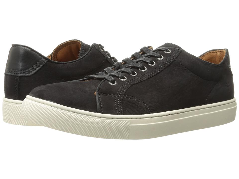 Frye - Walker Low Lace (Black Soft Italian Nubuck) Men's Lace up casual Shoes