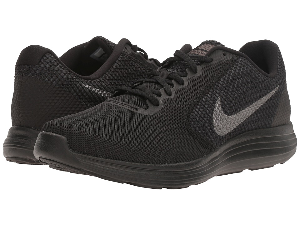 Nike - Revolution 3 (Black/Black/Black) Men's Running Shoes