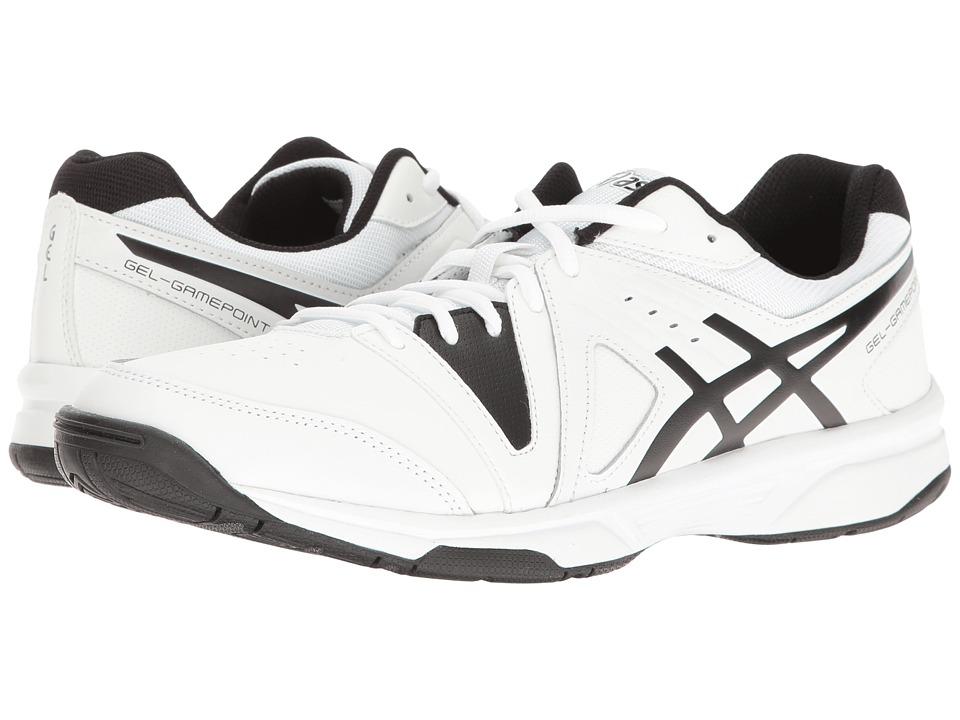ASICS - Gel-Gamepoint (White/Black) Men's Tennis Shoes