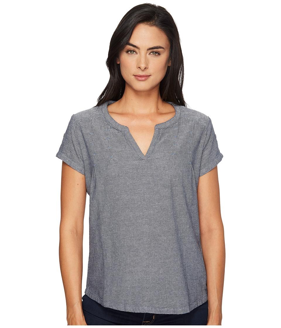 Royal Robbins - Cool Mesh Short Sleeve Top (Deep Blue) Women's Short Sleeve Pullover