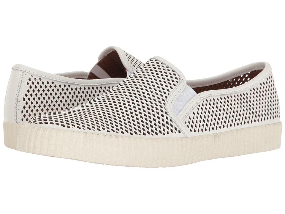 Frye - Camille Perf Slip (White Tumbled Bovine) Women's Slip on Shoes