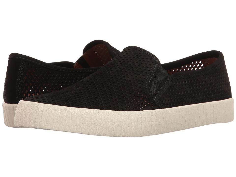 Frye - Camille Perf Slip (Black Oiled Nubuck) Women's Slip on Shoes