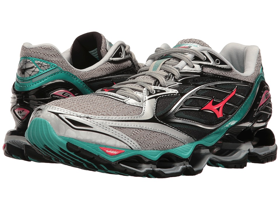 Mizuno Wave Prophecy 6 (Silver/Turquoise/Diva Pink) Women