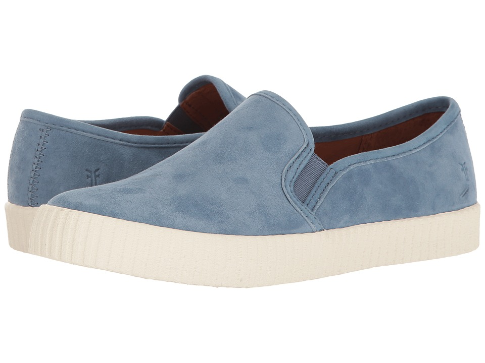 Frye - Camille Slip (Aqua Suede) Women's Slip on Shoes