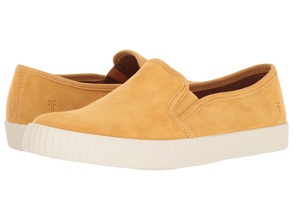 Frye - Camille Slip (Yellow Suede) Women's Slip on Shoes
