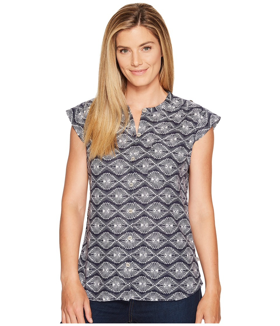 Royal Robbins - Cool Mesh Batik Camp Shirt (Deep Blue) Women's Sleeveless