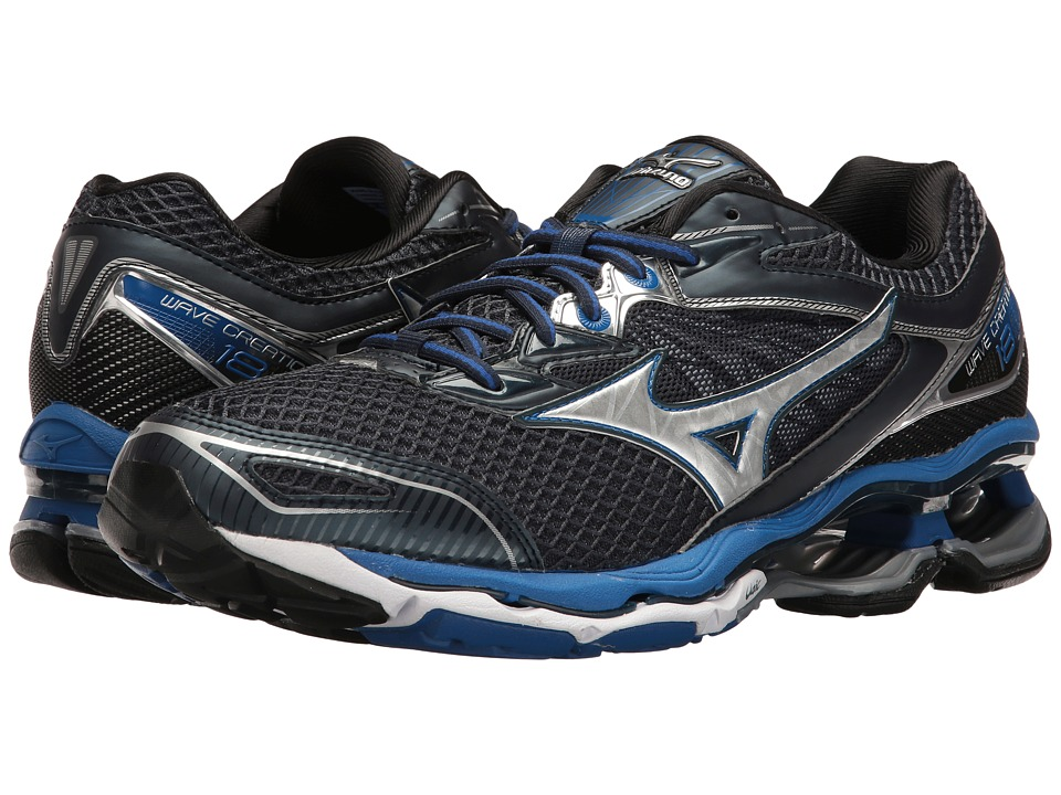 Mizuno - Wave Creation 18 (Dress Blue/Silver/Nautical Blue) Men's Running Shoes
