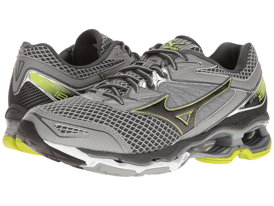 Mizuno - Wave Creation 18 (Griffin/Black/Safety Yellow) Men's Running Shoes