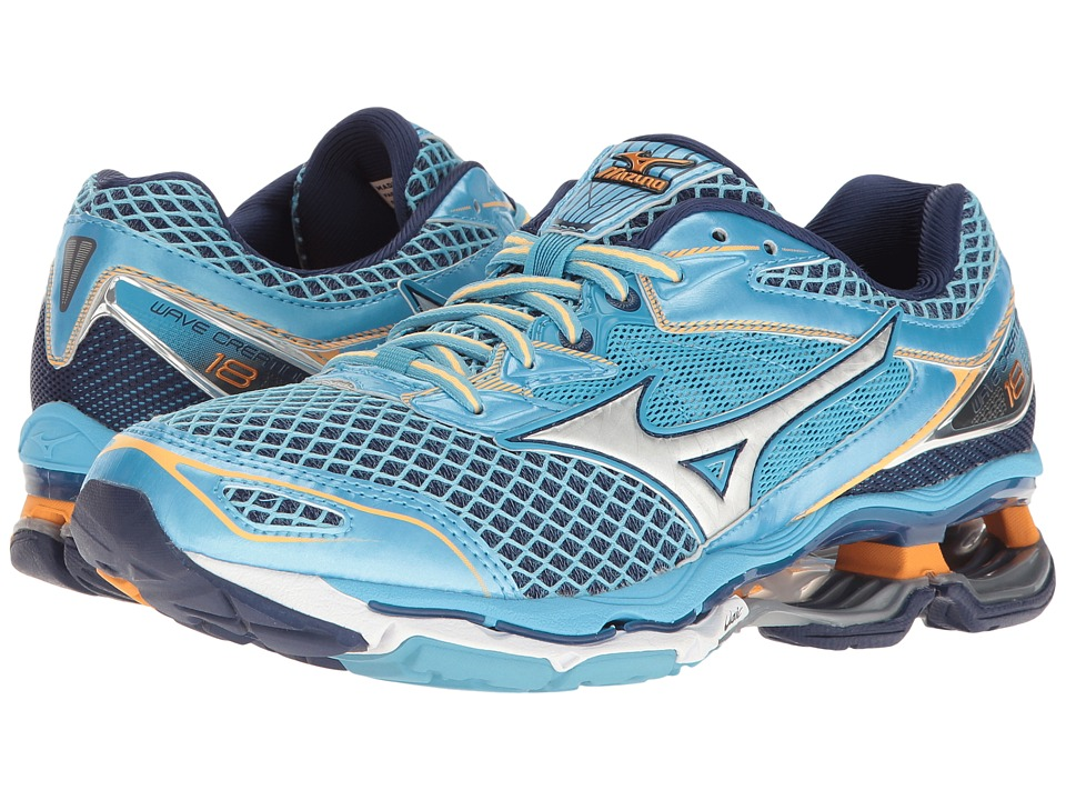 Mizuno - Wave Creation 18 (Norse Blue/Silver/Orange Pop) Women's Running Shoes