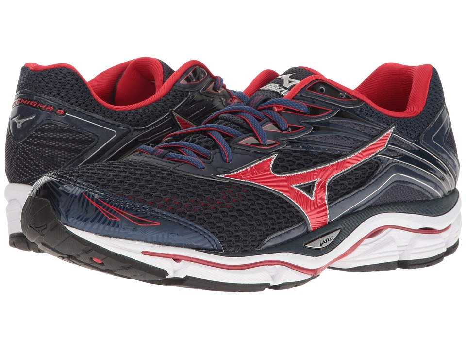 Mizuno - Wave Enigma 6 (Dress Blue/Chinese Red/Silver) Men's Running Shoes