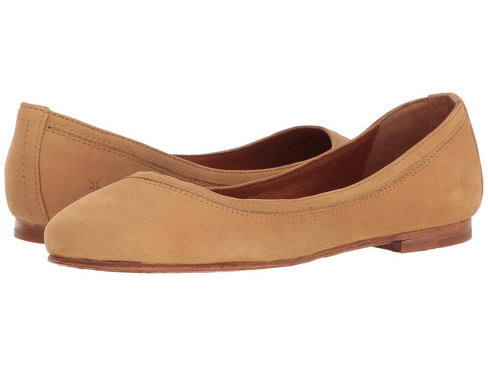 Frye - Carson Ballet (Sand Oiled Nubuck) Women's Flat Shoes