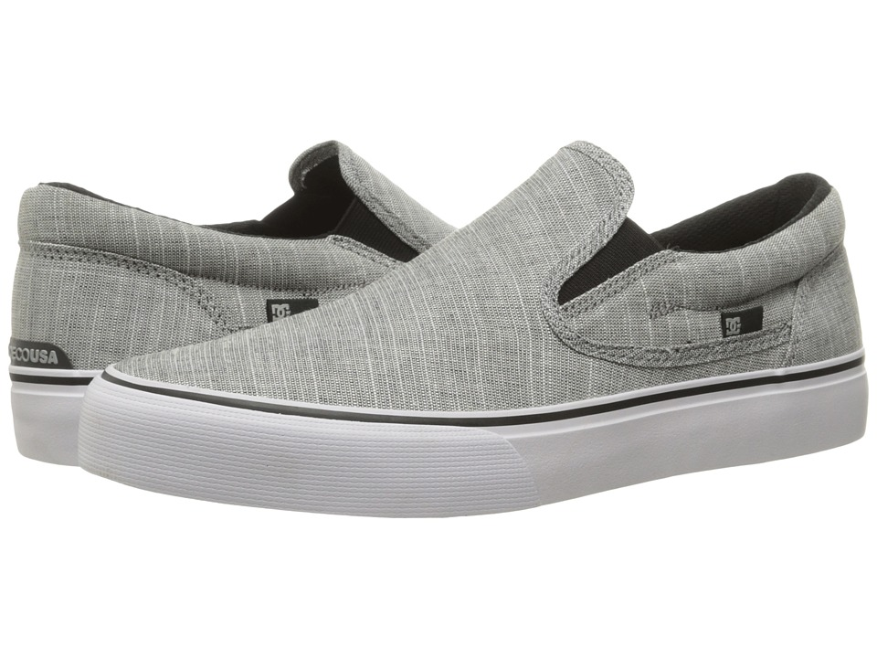 DC - Trase Slip-On TX SE (Charcoal Grey) Men's Skate Shoes