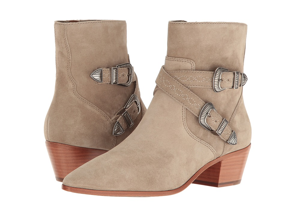Frye - Ellen Buckle Short (Ash Soft Oiled Suede) Women's Boots