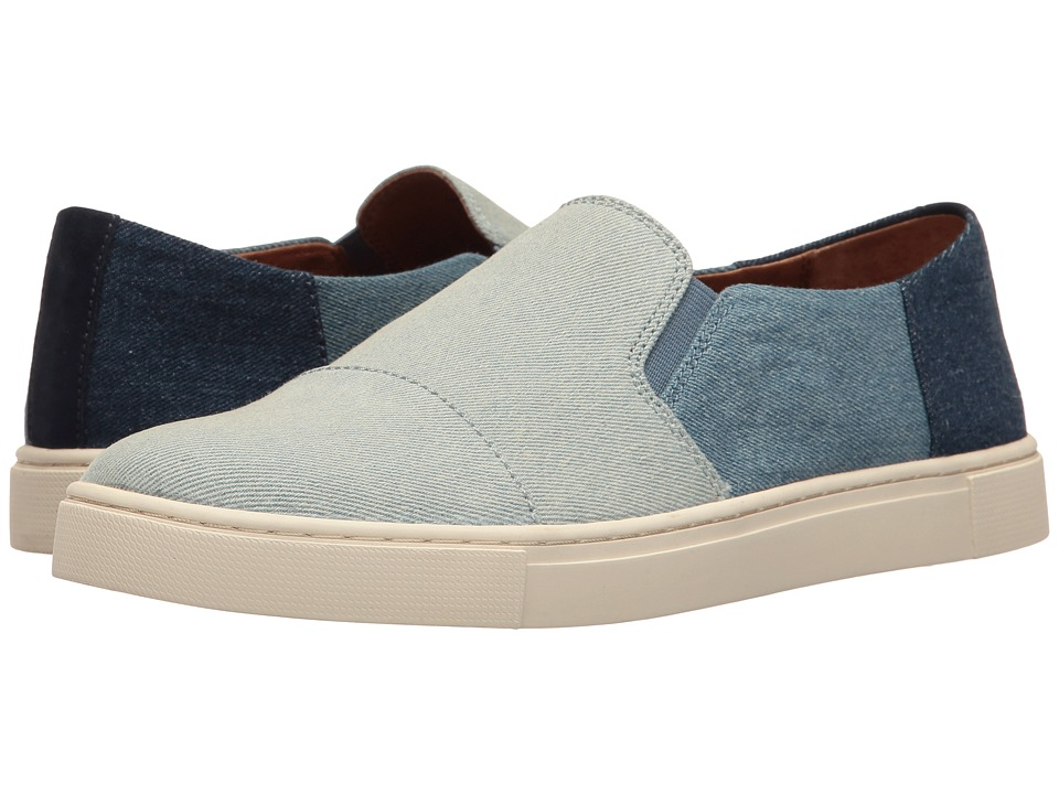Frye Gemma Cap Slip (Denim Multi Denim/Suede) Women