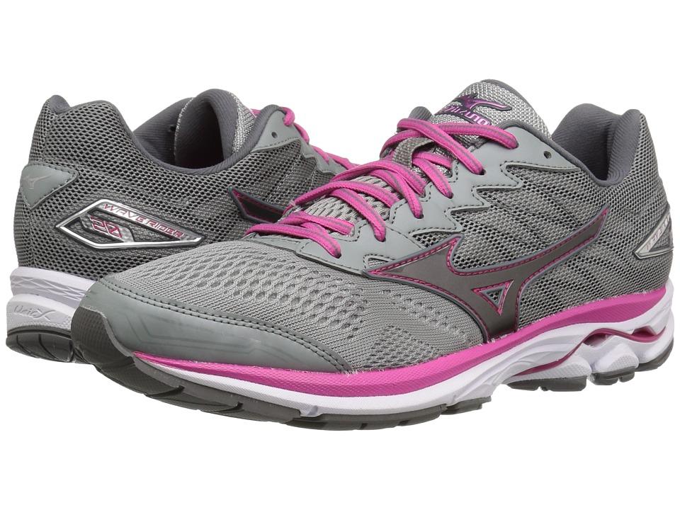 Mizuno Wave Rider 20 (Griffin/Fuchsia Purple/White) Women's Running Shoes. On  sale ...