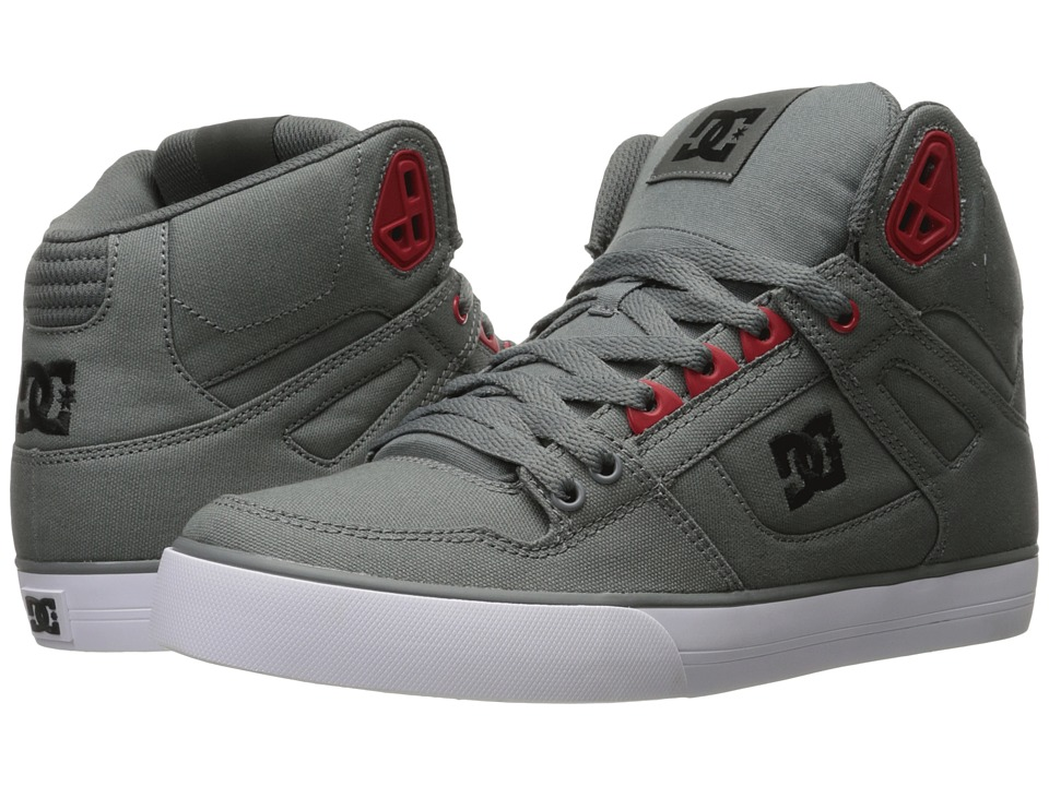 DC - Spartan High WC TX (Grey/Black/Red) Men's Shoes