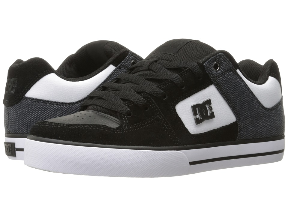 DC - Pure SE (Black/White) Men's Skate Shoes