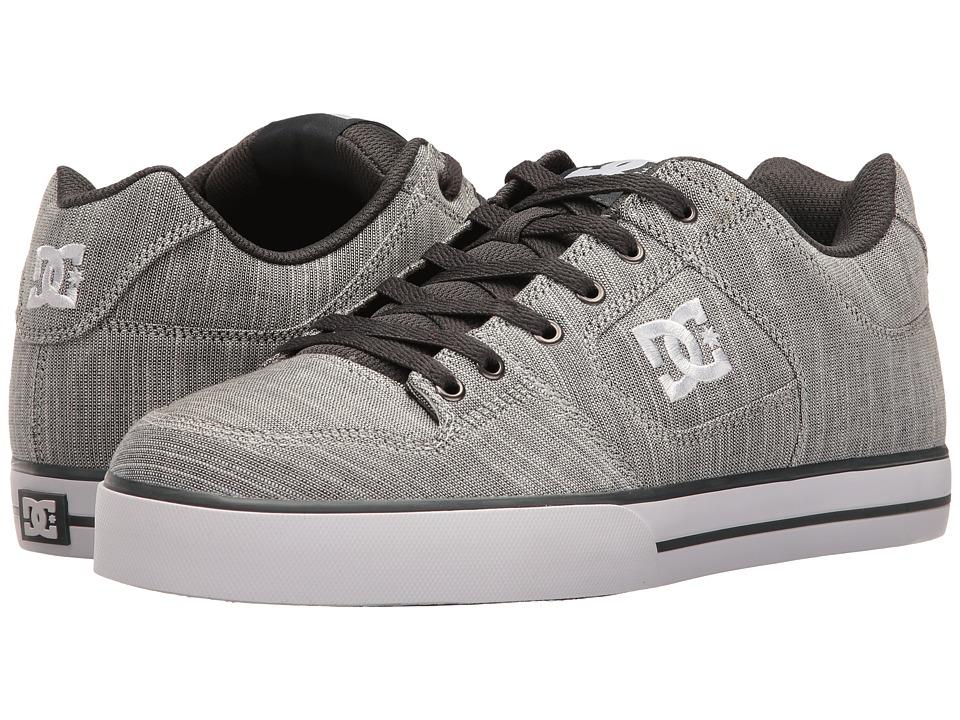 DC - Pure TX SE (Light Grey) Men's Skate Shoes
