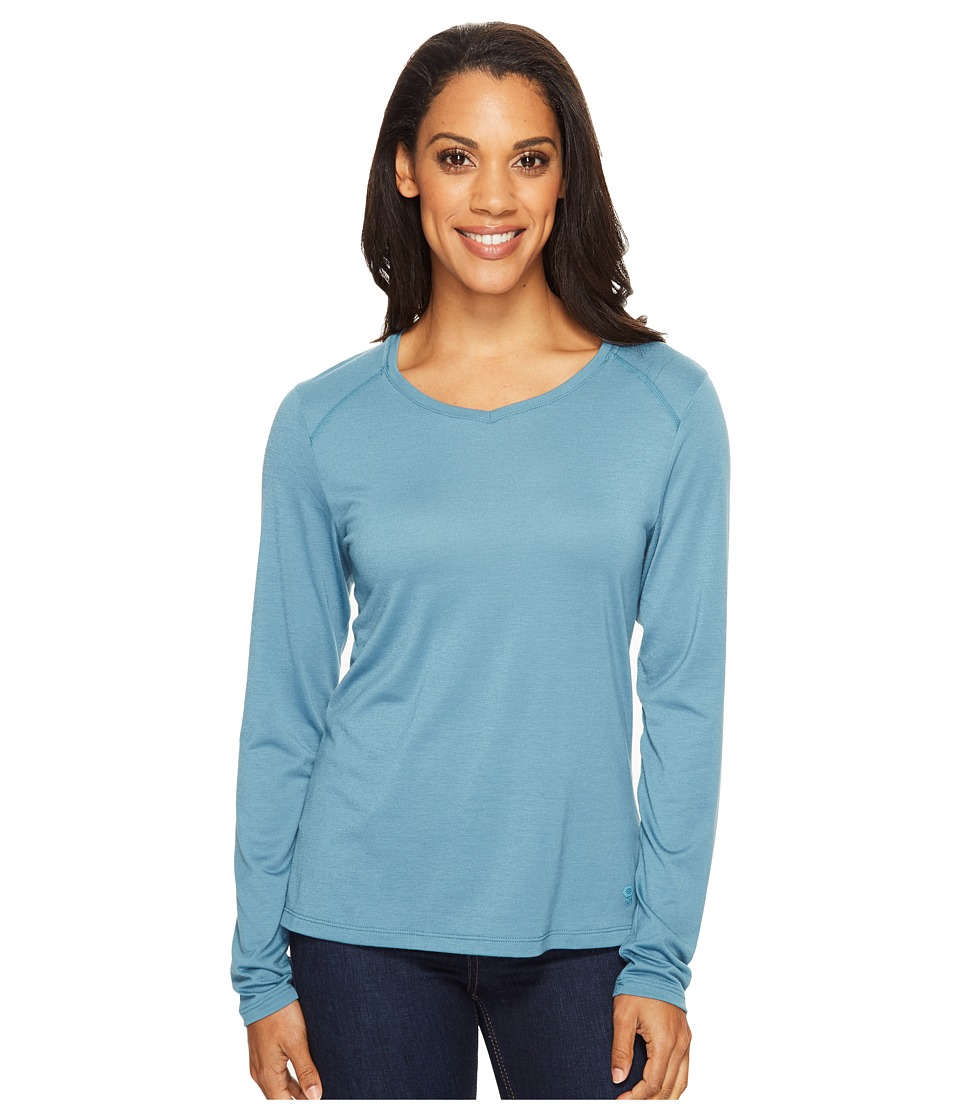 Mountain Hardwear - Coolhiker AC Long Sleeve T-Shirt (Cloudburst) Women's Long Sleeve Pullover