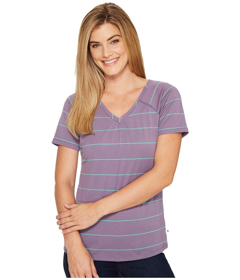 Mountain Hardwear - DrySpun Stripe Short Sleeve Shirt (Minky) Women's Short Sleeve Pullover