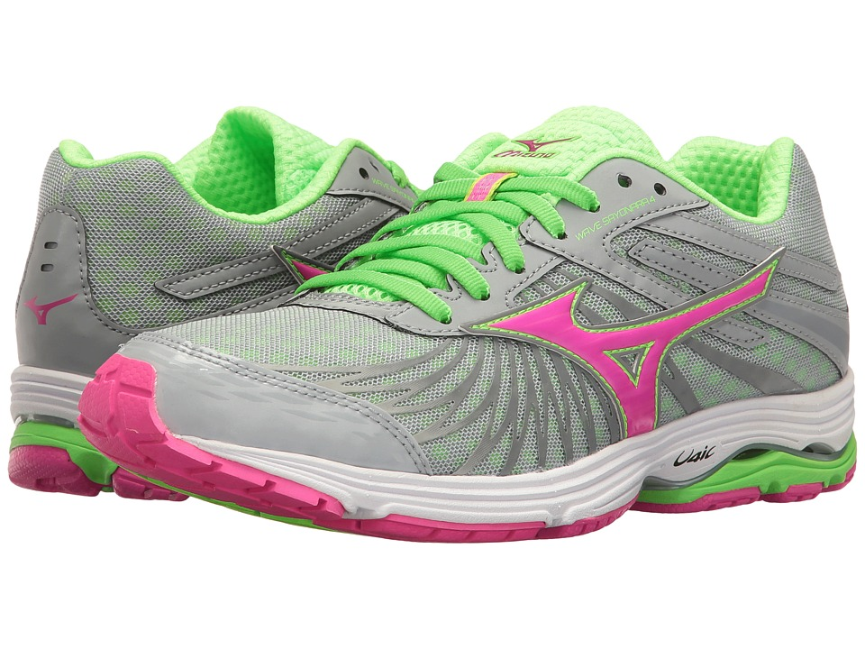 Mizuno - Wave Sayonara 4 (High-Rise/Electric/Green Gecko) Women's Running Shoes