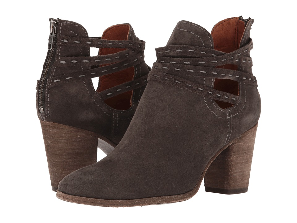 Frye - Naomi Pickstitch Shootie (Grey Oiled Suede) Women's Boots